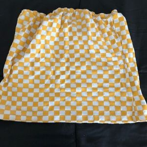 Tops - Yellow and White Checkered Crop